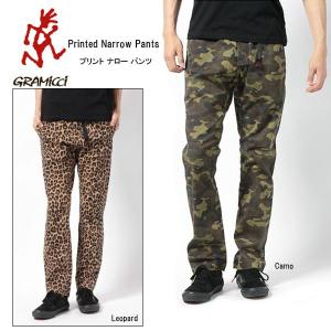 グラミチ GRAMICCI プリント ナロー パンツ Printed Narrow Pants gmp-14f004 snb-shop