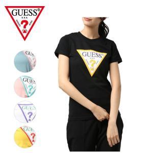 GUESS ゲス TRIANGLE LOGO TEE YJ2K9415K 【Tシャツ/アウトドア/半袖/トップス/レディース】【メール便・代引不可】|snb-shop