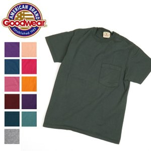GOODWEAR グッドウェア Made in USA Tシャツ S/S CREW NECK POCKET TEE クルーネック ポケット TEE 日本正規品 メンズ レディース 半袖【メール便・代引不可】|snb-shop