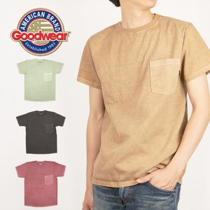 GOODWEAR グッドウェア Tシャツ S/S POCKET TEE PIGMENT DYE クルーネックポケットTシャツ ピグメントダイ  40023 【服】【t-cnr】【メール便・代引不可】|snb-shop