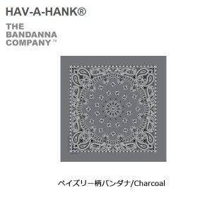 HAVE A HANK/ハバハンク バンダナ/ペイズリー柄バンダナ/Charcoal|snb-shop