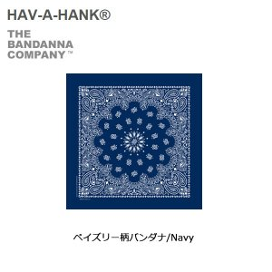 HAVE A HANK/ハバハンク バンダナ/ペイズリー柄バンダナ/Navy|snb-shop