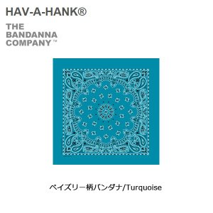 HAVE A HANK/ハバハンク バンダナ/ペイズリー柄バンダナ/Turquoise|snb-shop