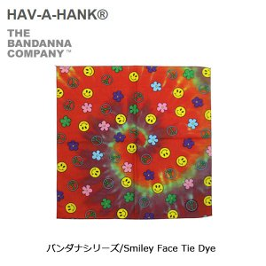 HAVE A HANK/ハバハンク バンダナ/バンダナシリーズ/Smiley Face Tie Dye|snb-shop