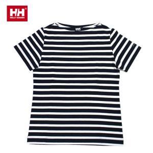 he31423-dn HELLY HANSEN ヘリーハンセン ショートスリーブ ボーダーボートネック S S BORDER BOATNEC DN 日本正規品|snb-shop