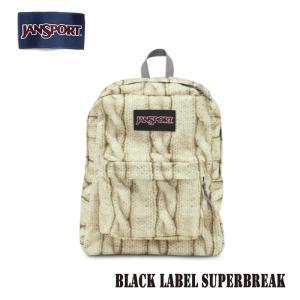 ジャンスポーツ jansport リュック スーパーブレイク SUPERBREAK BLACK LABEL MULTI CABLE KNIT TWK81H9 jan15-027|snb-shop