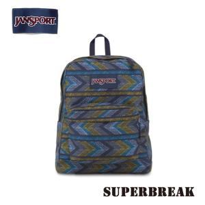 ジャンスポーツ jansport リュック スーパーブレイク SUPERBREAK NAVY MOONSHINE PAINTED CHEVRONS T50102I jan15-038|snb-shop