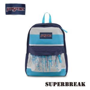 ジャンスポーツ jansport リュック スーパーブレイク SUPERBREAK MOMMOTH BLUE DRIP STRIPE T501ZH4 jan15-076|snb-shop