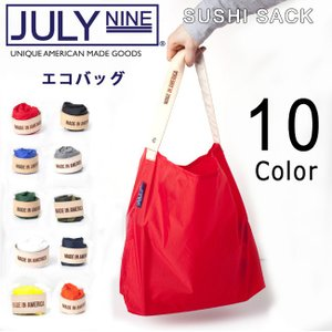JULY NINE ジュライナイン The Roll Up Collection Large Sushi Sack 【カバン】 エコバッグ トートバッグ コンパクト収納【メール便・代引不可】|snb-shop