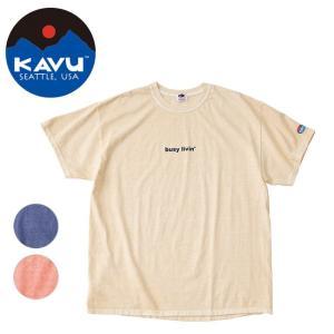 KAVU×FRUIT OF THE ROOM KAVU/カブー メンズ ショートスリーブ ビジーリビング Tシャツ 19821025 【Tシャツ/半袖/アウトドア】【メール便・代引不可】|snb-shop