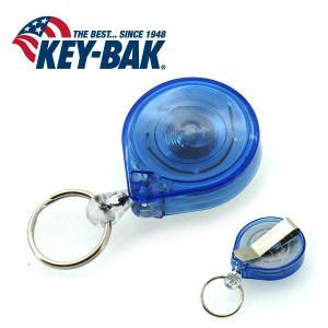 KEY-BAK/キーバック ミニバック 0214-001 スケルトンブルー/ナイロン 90cm|snb-shop