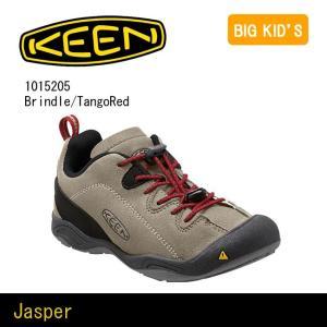 キーン KEEN  Jasper ジャスパー  Jr 1015205 Brindle/TangoRed 【靴】 カジュアルシューズ 通学 運動 公園 ジュニア 小学生 バンジー|snb-shop