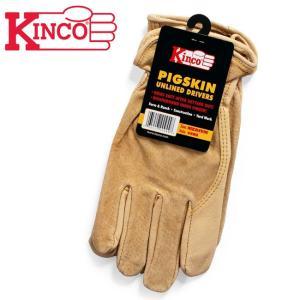 Kinco Gloves キンコグローブ Unlined Grain Pigskin Gloves 94WA 【アウトドア/ガーデニング/DIY/ドライブ】|snb-shop