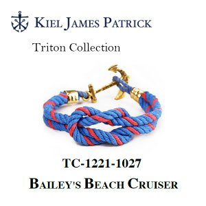 キールジェイムスパトリック KIEL JAMES PATRICK ロープ ブレスレット Triton Collection BAILEY TC-1221-1027【メール便・代引不可】|snb-shop