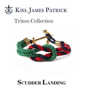 キールジェイムスパトリック KIEL JAMES PATRICK ロープ ブレスレット Triton Collection FRST/NVY/RD TC-1028-304【メール便・代引不可】|snb-shop