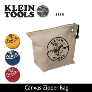 KLEIN TOOLS クラインツールズ Canvas Zipper Bag 5539/NAT/YEL/BLU/RED 【カバン】ポーチ キャンバス【メール便・代引不可】|snb-shop