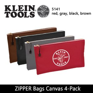 KLEIN TOOLS クラインツールズ ZIPPER Bags Canvas 4-Pack 5141 red/gray/black/brown 【カバン】ポーチ キャンバス|snb-shop