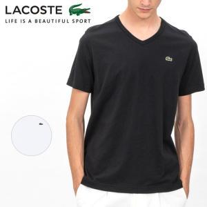 LACOSTE ラコステ ベーシックVネックTシャツ (半袖) TH632EM 【Tシャツ/半袖/メンズ/アウトドア】【メール便・代引不可】|snb-shop