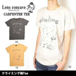 レンズコンケイブ Lens concave Tシャツ クライミング柄Tee L599424 【メール便・代引不可】 snb-shop