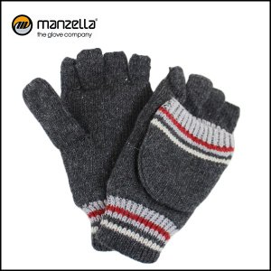 MANZELLA/マンツェラ グローブ STRIPED CONVERTBLE/CHARCOAL|snb-shop