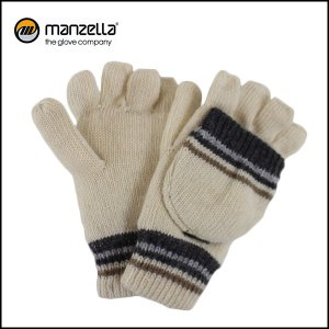 MANZELLA/マンツェラ グローブ STRIPED CONVERTBLE/IVORY|snb-shop