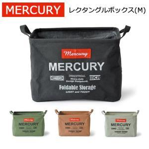 MERCURY マーキュリー キャンバス レクタングルボックス(M) MECARBM アメリカン雑貨 洗濯カゴ 収納 インテリア 折りたたみ ランドリーバケツ snb-shop