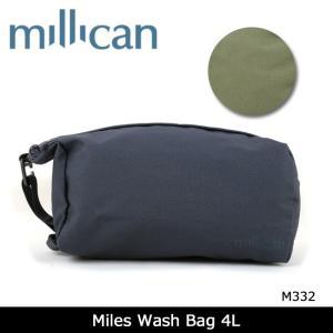 ミリカン millican ウォッシュバック Miles Wash Bag 4L M332 【カバン】 ポーチ アウトドア トラベル 耐候性|snb-shop