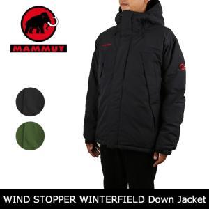 MAMMUT/マムート WINDSTOPPER WINTERFIELD Down Jacket  1011-00190 【服】防寒 アウター 登山 ハイキング デイリーユース ファッション 暖か ダウンジャケット|snb-shop