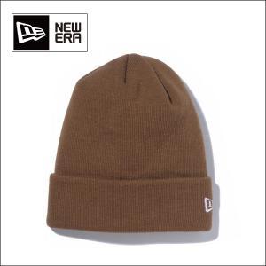 NEWERA ニューエラ ニットキャップ Basic Cuff Knit ブラウン×ホワイトフラッグ N0000835 ビーニー(メール便対象・代引不可)|snb-shop