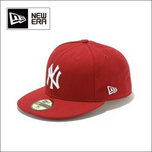 NEWERA ニューエラ キャップ 59FIFTY カスタム/ニューヨーク・ヤンキース スカーレット x ホワイト 5950 NEYYAN|snb-shop