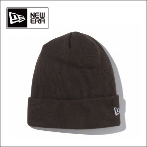 NEWERA ニューエラ ビーニー Basic Cuff Knit チョコレート×ホワイトフラッグ N0017084 【メール便・代引不可】|snb-shop