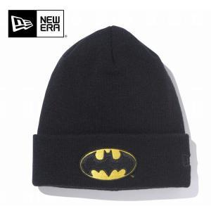 NEWERA ニューエラ ニットキャプ Basic Cuff Knit BATMAN/ ブラック/ N0021402 ビーニー 【メール便・代引不可】|snb-shop