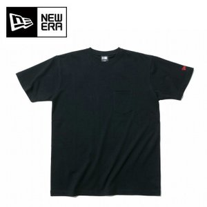 NEWERA ニューエラ コットン ポケット Tシャツ ブラック レッドフラッグ 11901360 ...