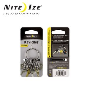 ナイトアイズ NITE-IZE キーホルダーキーリングスチール/KRGS-11-R3/ステンレスシルバー/日本正規品 【メール便・代引不可】|snb-shop