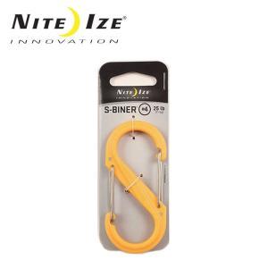 ナイトアイズ NITE-IZE キーホルダー Sビナ プラスチックNo4/SBP4-03-16/イエロー/日本正規品|snb-shop
