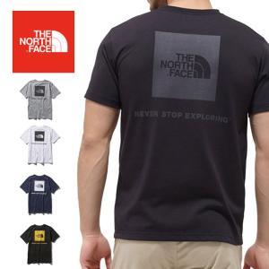 THE NORTH FACE ノースフェイス S/S Square Logo Tee ショートスリーブスクエアロゴティー(メンズ) NT31957 【日本正規品/Tシャツ/アウトドア】|snb-shop