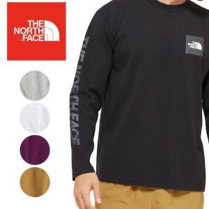 THE NORTH FACE ノースフェイス L/S Square Logo Tee ロングスリーブスクエアロゴティー NT81931 【メンズ/トップス/Tシャツ/長袖/アウトドア】|snb-shop
