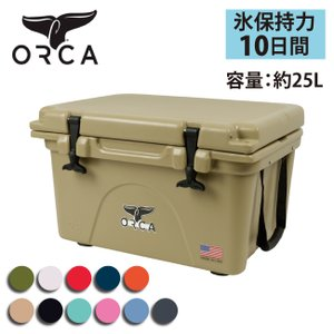 ORCA オルカ  クーラーボックス 26 Quart 【ZAKK】大型 クーラーBOX バーベキュー アウトドア 保冷 ピクニック 海水浴|snb-shop