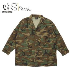 Orslow オアスロウ PAJAMA SHIRT Woodland Camouflage 01-8061 【アウトドア/トップス/パジャマ/ジャケット】|snb-shop