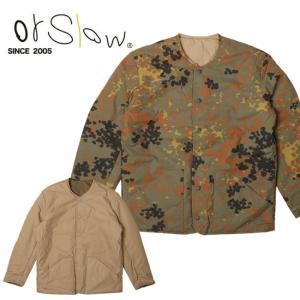 Orslow オアスロウ Cotton Shell Jaket Khaki x DotCamo 03-6046-40GC 【アウトドア/メンズ/アウター/リバーシブル】|snb-shop