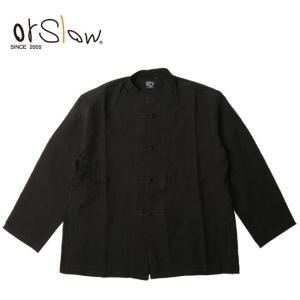 Orslow オアスロウ KUNG FU JACKET(UNISEX) black 03-6013-61 【アウトドア/ユニセックス/ジャケット】|snb-shop