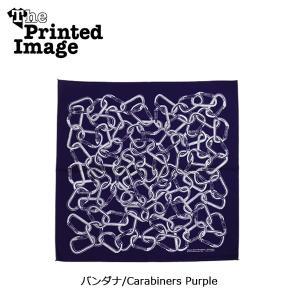 The Printed Image/ザ・プリンテッドイメージ  バンダナ/Carabiners Purple 【メール便・代引不可】 snb-shop