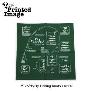 The Printed Image/ザ・プリンテッドイメージ  バンダナ/Fly Fishing Knots GREEN 【メール便・代引不可】 snb-shop