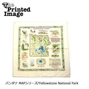 The Printed Image/ザ・プリンテッドイメージ  バンダナ MAPシリーズ/Yellowstone National Park 【メール便・代引不可】 snb-shop