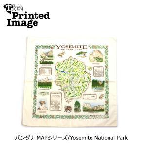 The Printed Image/ザ・プリンテッドイメージ  バンダナ MAPシリーズ/Yosemite National Park 【メール便・代引不可】 snb-shop