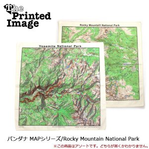 The Printed Image/ザ・プリンテッドイメージ  バンダナ MAPシリーズ/Rocky Mountain National Park 【メール便・代引不可】|snb-shop