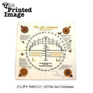The Printed Image/ザ・プリンテッドイメージ  バンダナ MAPシリーズ/The Sun Compass 【メール便・代引不可】 snb-shop