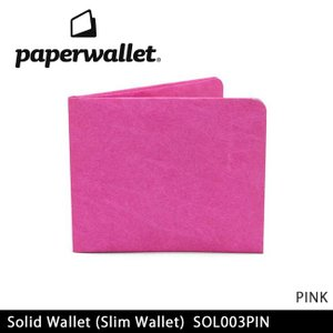 PaperWallet ペーパーウォレット ウォレット Solid Wallet (Slim Wallet)/PINK SOL003PIN 【雑貨】財布 タイベック素材 紙の財布【メール便・代引不可】|snb-shop