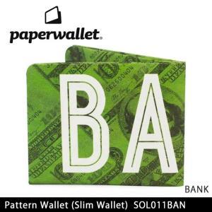 PaperWallet ペーパーウォレット ウォレット Pattern Wallet (Slim Wallet)/BANK SOL011BAN【メール便・代引不可】|snb-shop