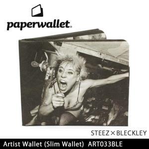 PaperWallet ペーパーウォレット ウォレット Artist Wallet (Slim Wallet)/STEEZxBLECKLEY ART033BLE【メール便・代引不可】|snb-shop